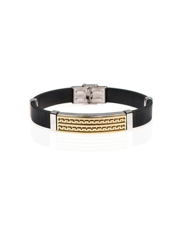 Bolf Herren Armband Schwarz B055