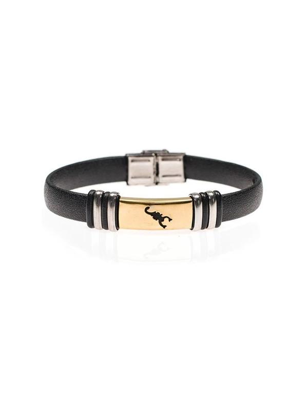 Bolf Herren Armband Schwarz B077