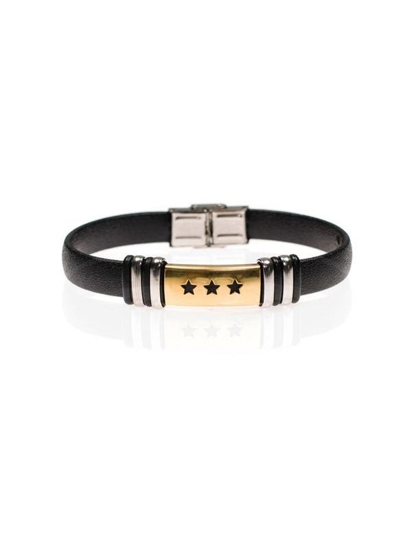 Bolf Herren Armband Schwarz B081