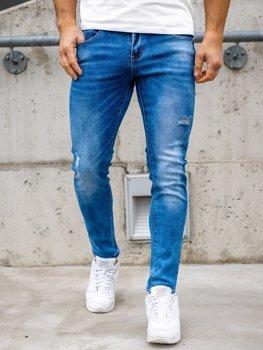 Bolf Herren Jeans Hose skinny fit Dunkelblau  KX388