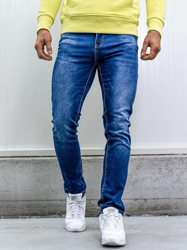 Bolf Herren Jeans Hose straight leg Dunkelblau  KA1767
