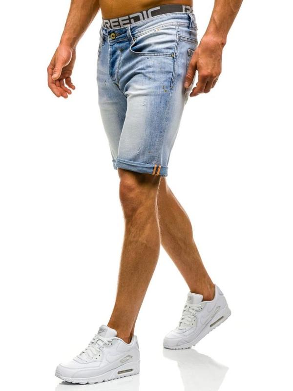 Bolf Herren Jeans Shorts Hellblau 9584