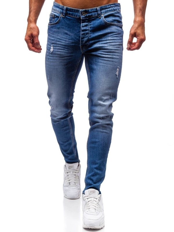 Bolf Herren Jeanshose Blau  1007