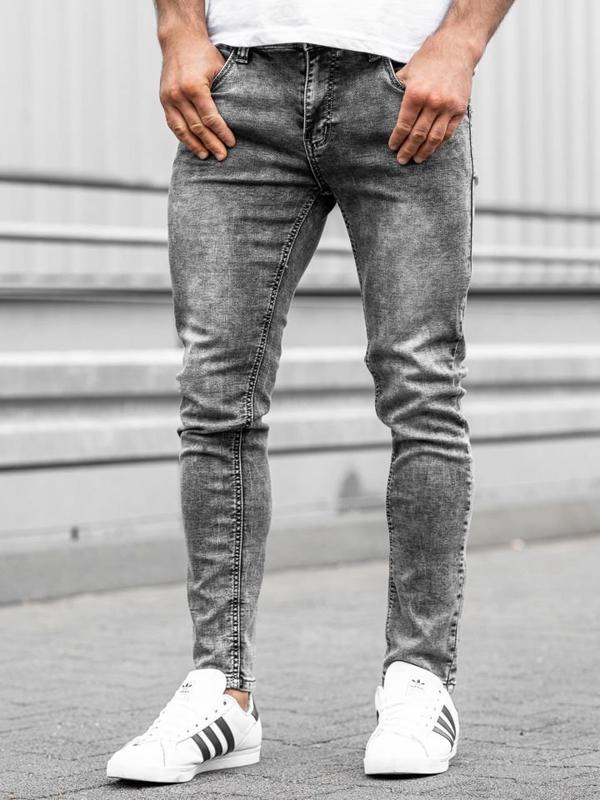 Bolf Herren Jeanshose Grau  KX186