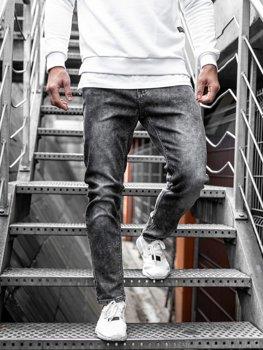 Bolf Herren Jeanshose Grau  KX190