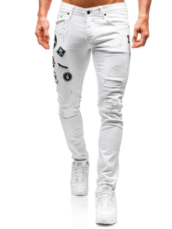 Bolf Herren Jeanshose Weiß  4021
