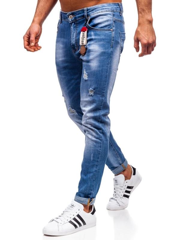 Bolf Herren Jeanshose regular fit Dunkelblau  KX297