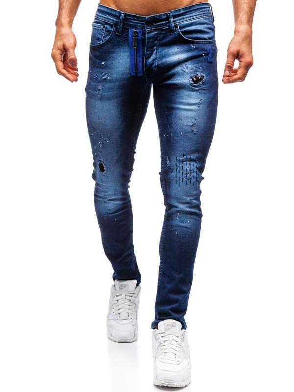 Bolf Herren Jeanshose skinny fit Dunkelblau  9241