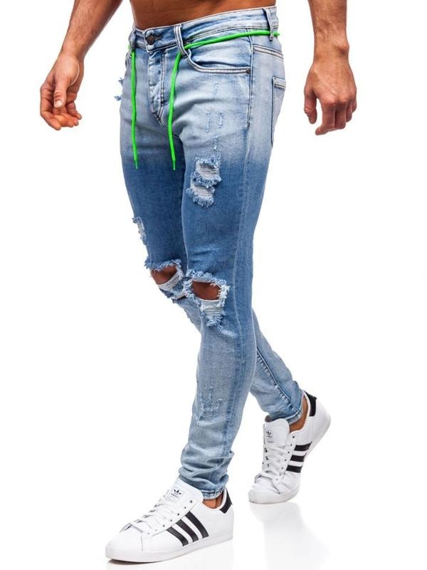 Bolf Herren Jeanshose skinny fit Dunkelblau  KA1728