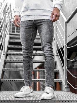 Bolf Herren Jeanshose skinny fit Schwarz KX189