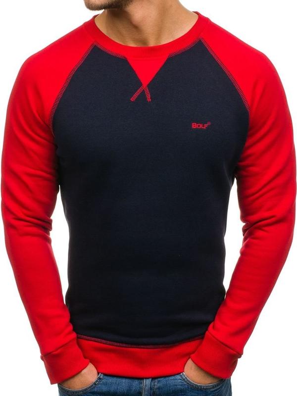 Bolf Herren Sweatshirt ohne Kapuze Dunkelblau 74