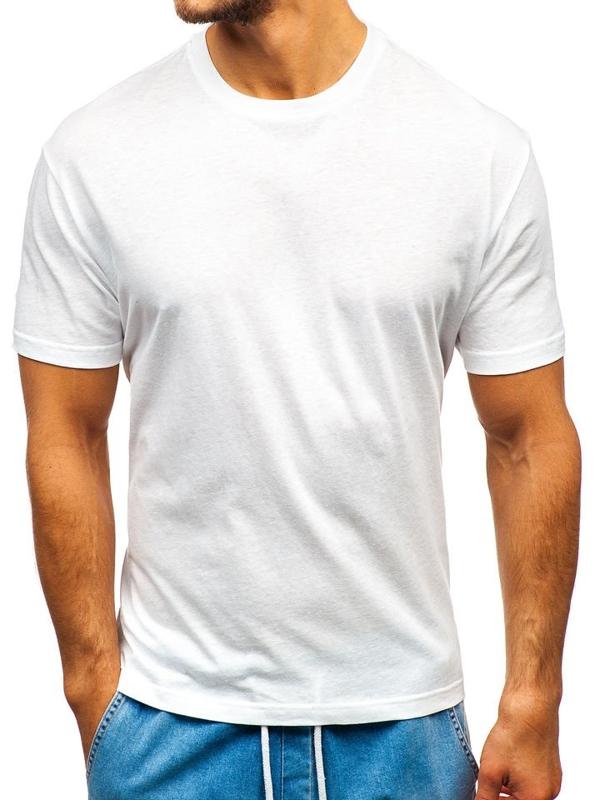 Bolf Herren T-Shirt ohne Motiv Weiß  T1427
