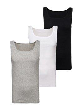 Bolf Herren Unterhemd Mehrfarbig 3 Pack  C10010-3P