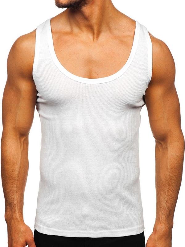 Bolf Herren Unterhemd Weiß  A58