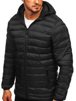 Bolf Herren Winterjacke Sport Jacke mit Steppmuster Schwarz  SM72