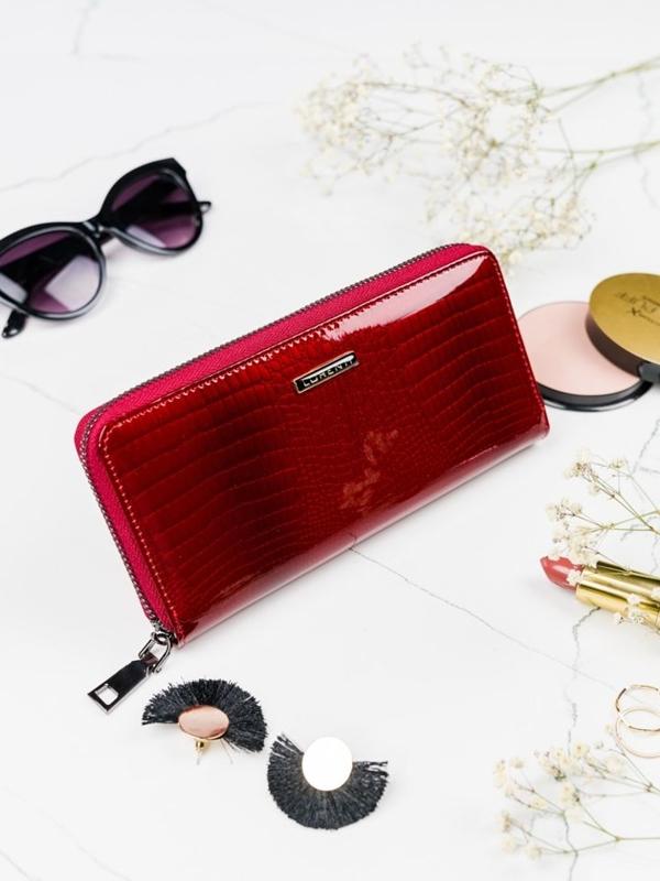 Damen Ledergeldbörse Rot 2082