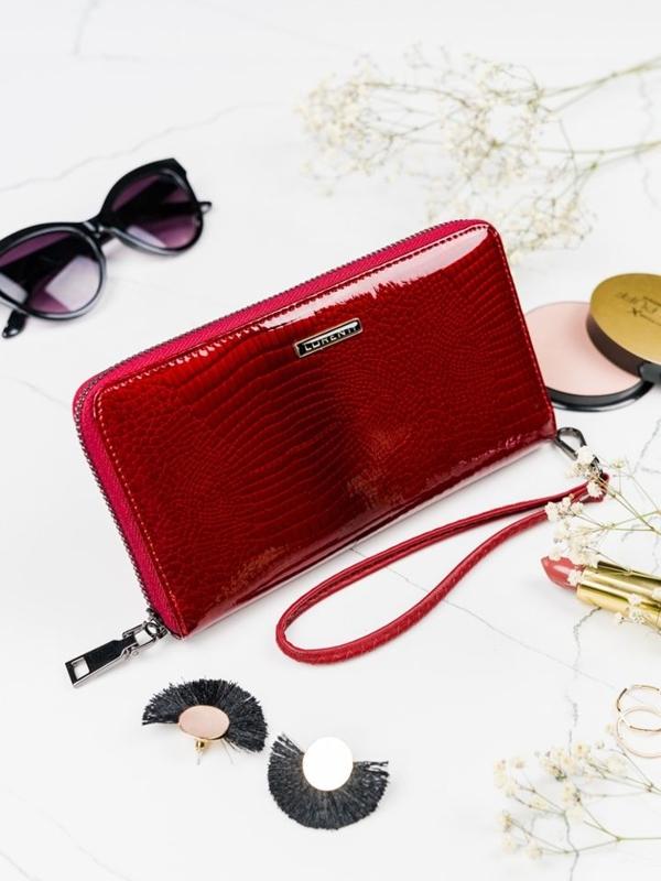 Damen Ledergeldbörse Rot 2084