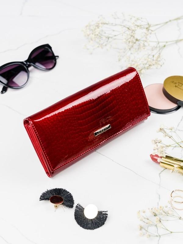 Damen Ledergeldbörse Rot 2099