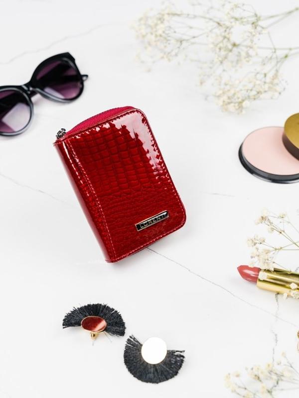Damen Ledergeldbörse Rot 2109