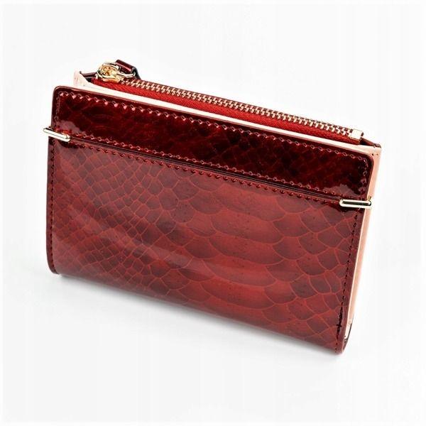 Damen Ökoledergeldbörse Rot 1054