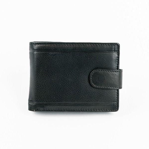 Herren Leder Geldbörse Schwarz 878