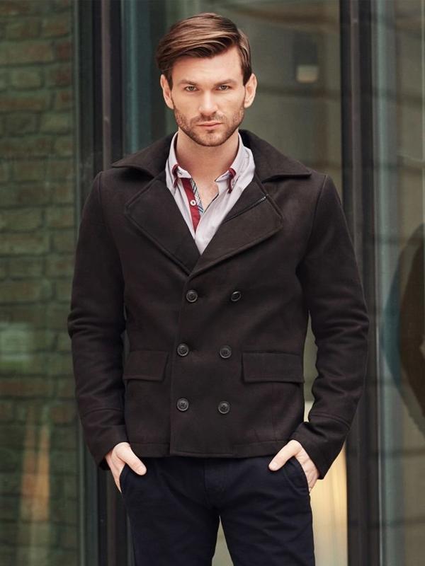 Styling Nr. 394 -Herren Mantel, elegantes Hemd, Chinos