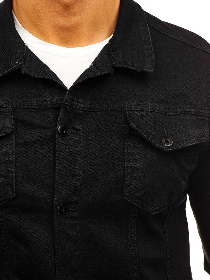 bolf herren jeansjacke schwarz 2052. Black Bedroom Furniture Sets. Home Design Ideas