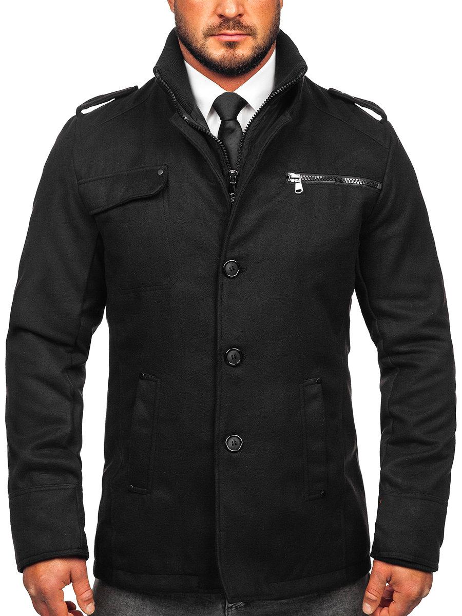 Herren mantel kurz schwarz