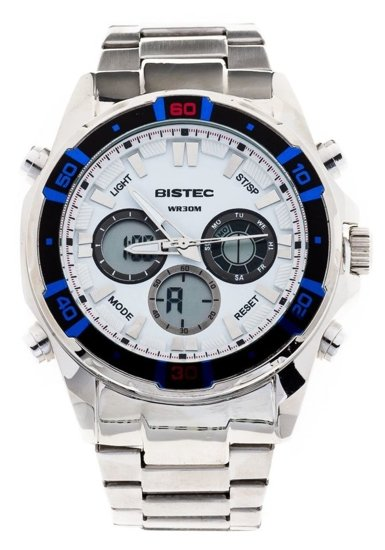 Bolf Armbanduhr Weiß-Blau 202