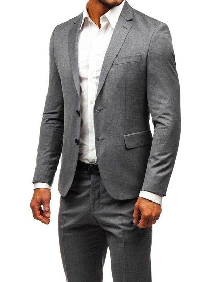 designer fashion 2921d 4f9fd Bolf Herren Anzug Grau 19200-1
