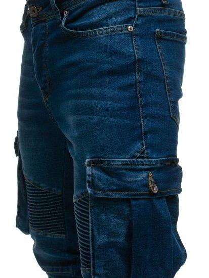 Bolf Herren Jeanshose Cargo Blau  524