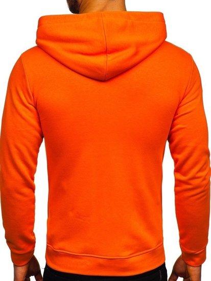 Bolf Herren Kapuzenpullover mit Motiv Orange  01