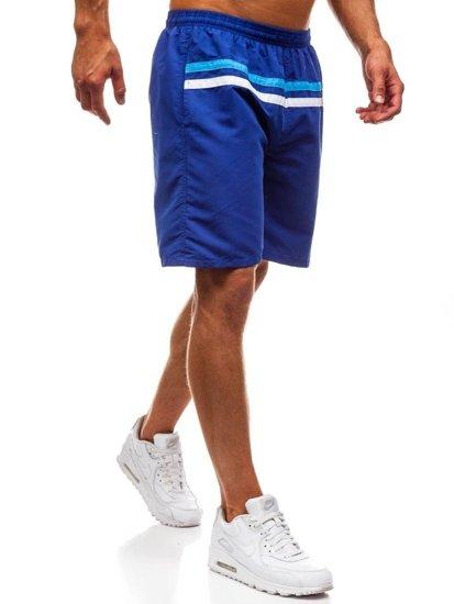 Bolf Herren Kurze Hose Badehose Blau  Y765