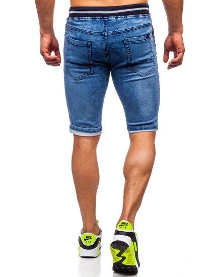 Bolf Herren Kurze Jeanshose Dunkelblau  HY768