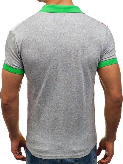 Bolf Herren Poloshirt Grün 4037