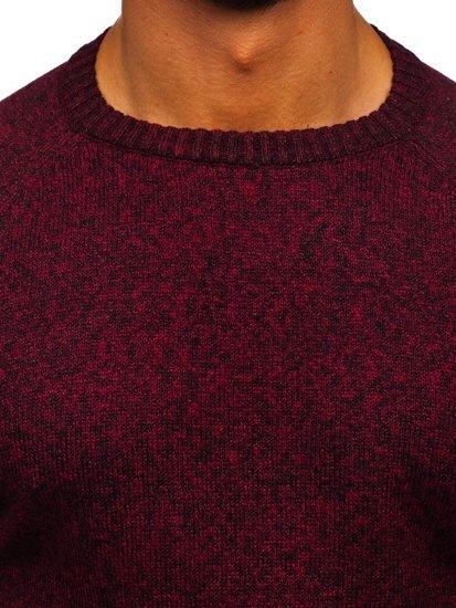 Bolf Herren Pullover Weinrot H1929