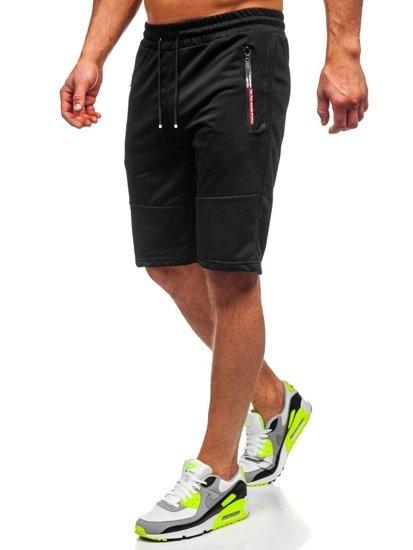 Bolf Herren Shorts Badehose Schwarz  JX366