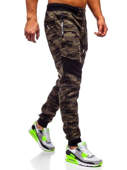 Bolf Herren Sporthose Camouflage Grün  TC873