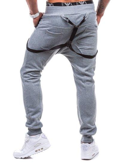 Bolf Herren Sporthose Grau 1106