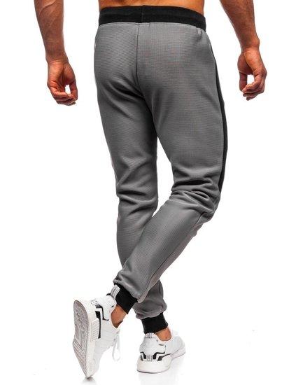 Bolf Herren Sporthose Grau AM79