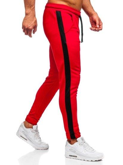 Bolf Herren Sporthose Jogger Rot  11120