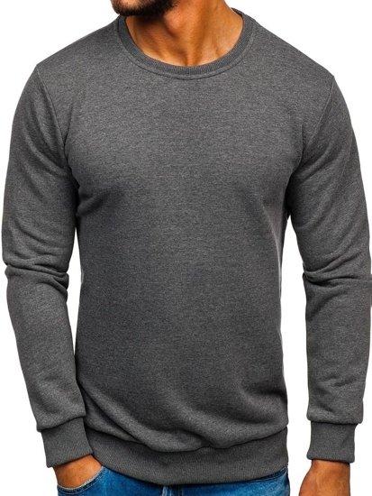Bolf Herren Sweatshirt ohne Kapuze Anthrazit  171715