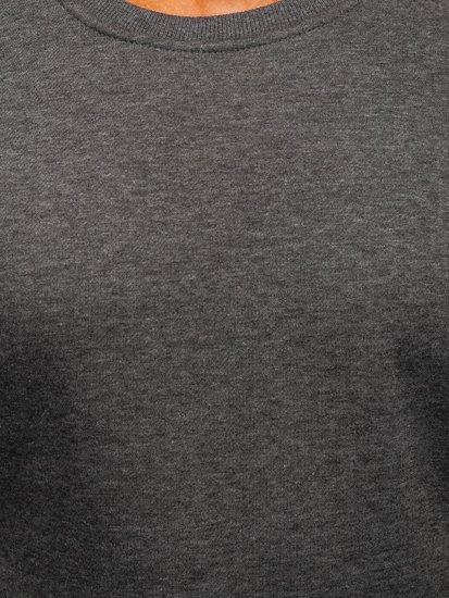 Bolf Herren Sweatshirt ohne Kapuze Anthrazit  2001