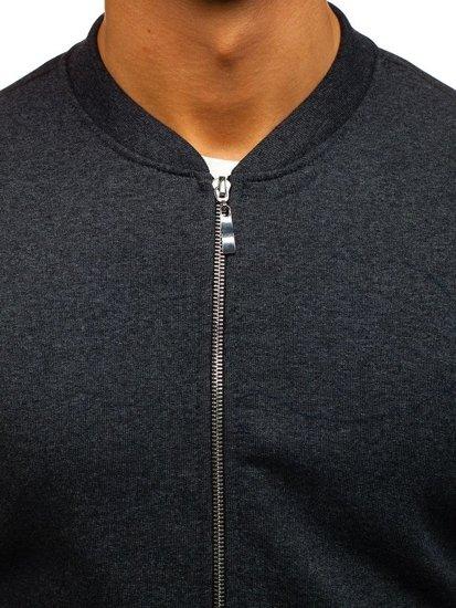 Bolf Herren Sweatshirt ohne Kapuze Anthrazit  43S-B