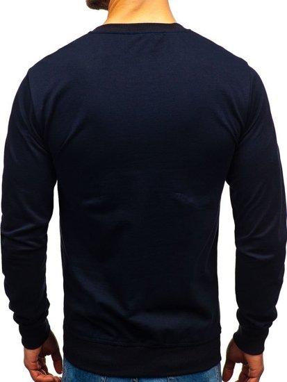 Bolf Herren Sweatshirt ohne Kapuze Dunkelblau 1221