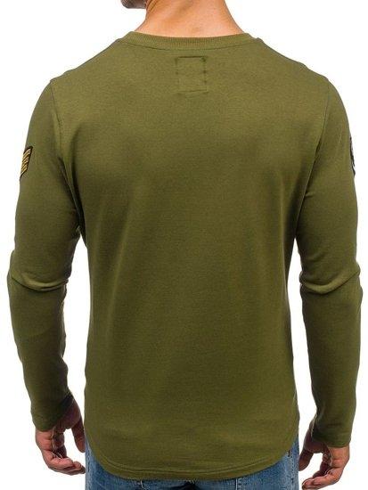 Bolf Herren Sweatshirt ohne Kapuze Grün 0739