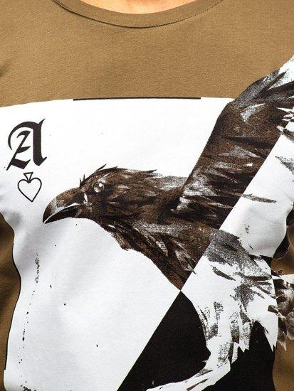 Bolf Herren T-Shirt mit Motiv Grün  181210