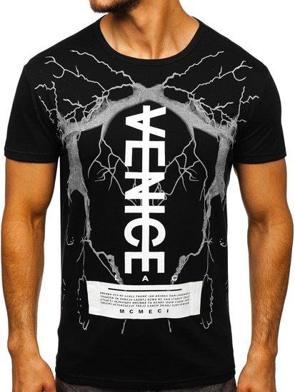 Bolf Herren T-Shirt mit Motiv Schwarz 10872