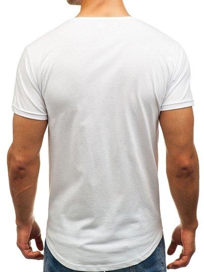 Bolf Herren T-Shirt  mit Motiv Weiß  181150