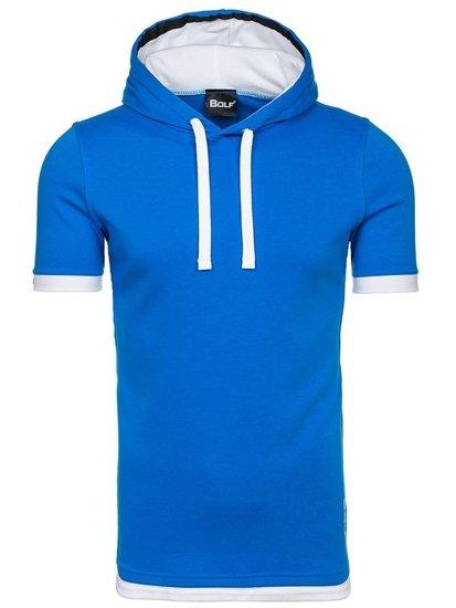 Bolf Herren T-Shirt ohne Motiv Blau  08